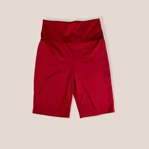 Shein Red High Waist Athletic Shorts S